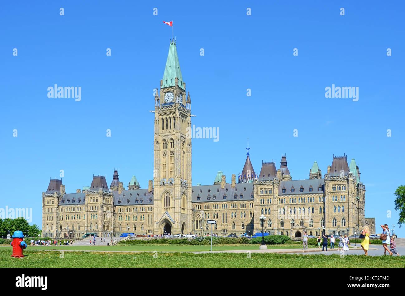 The Parliamentary Buildings at Ottawa, Ontario, Canada. - Stock Image