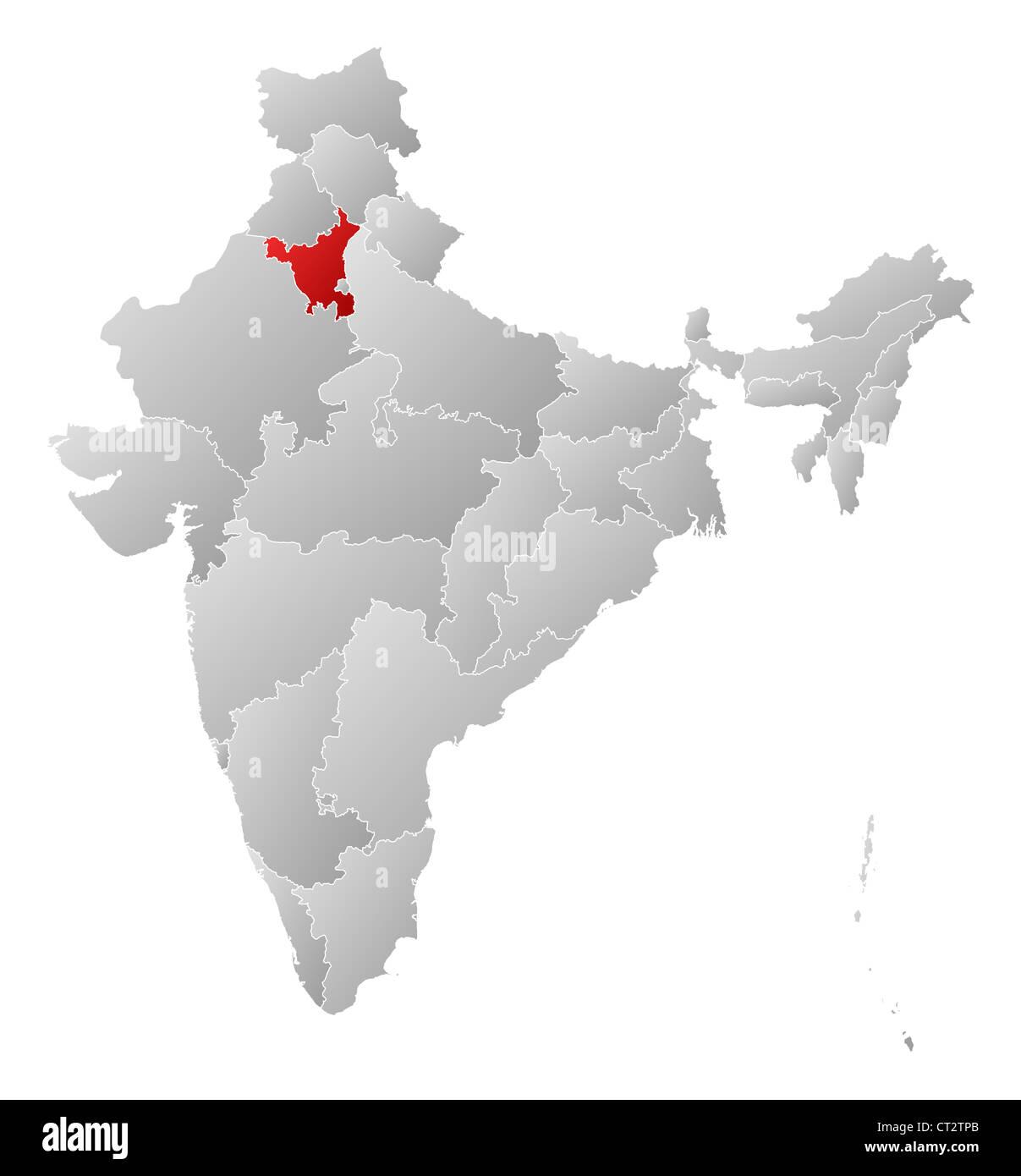 Haryana India Map.Haryana Map Stock Photos Haryana Map Stock Images Alamy