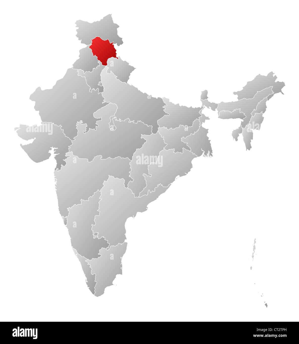 himachal pradesh in india political map Political Map Of India With The Several States Where Himachal himachal pradesh in india political map