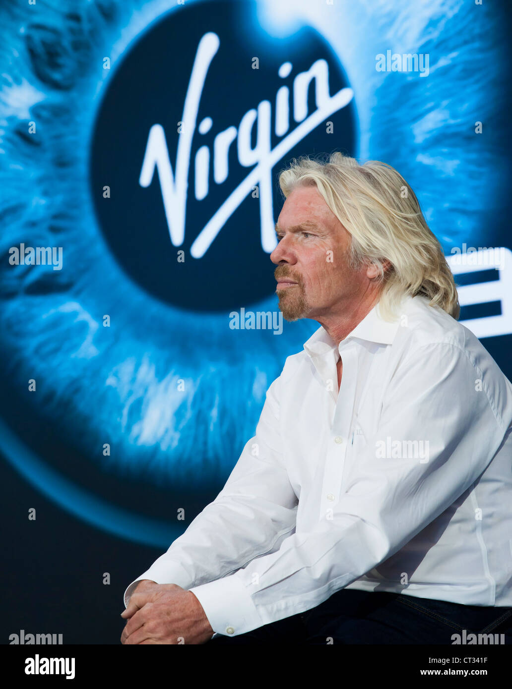 Richard Branson at the Virgin Galatic Gateway spaceport dedication in New Mexico. USA. - Stock Image