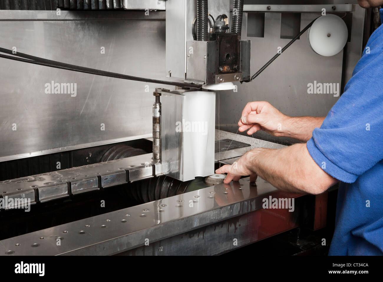 Titanium block havingwire electrical discharge machining (WEDM ...