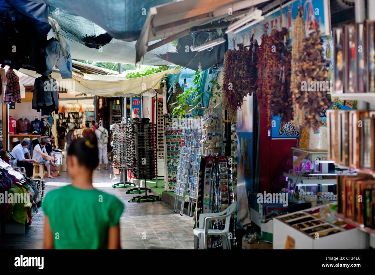 Street Market in Antalya, Turkey, Asia - Stock Image