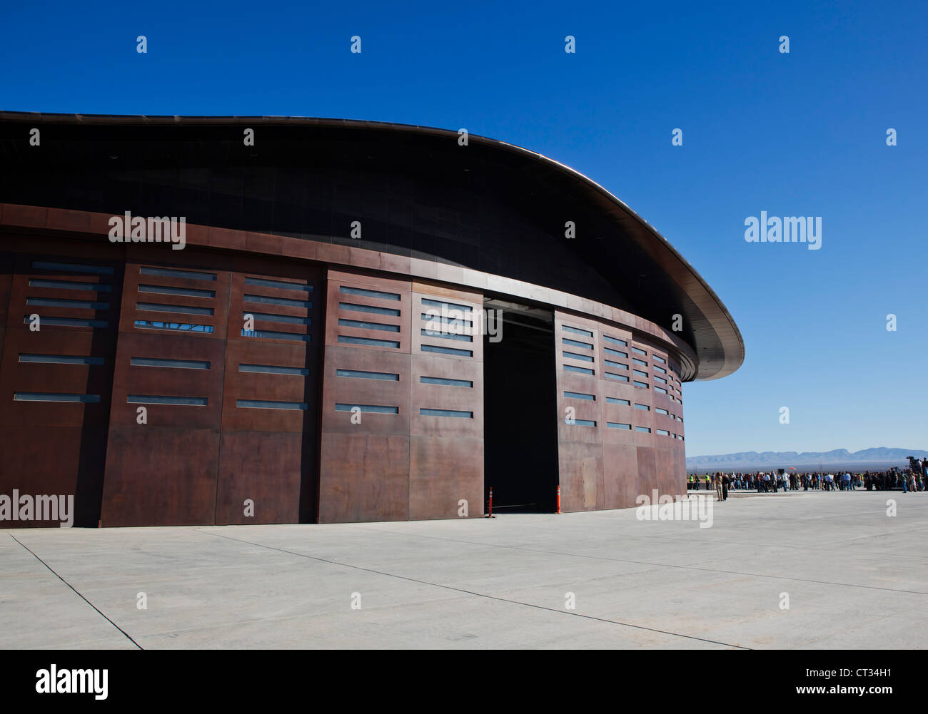 Vigin Galatic Gateway spaceport building - Stock Image