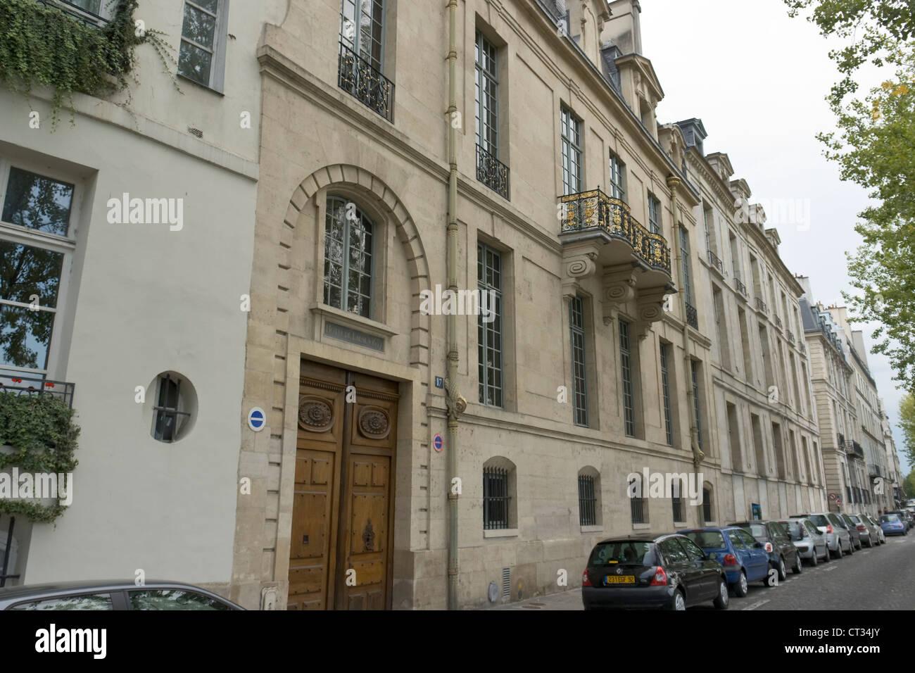 Hôtel de Lauzun, Hôtel de Pimodan, Paris - Stock Image