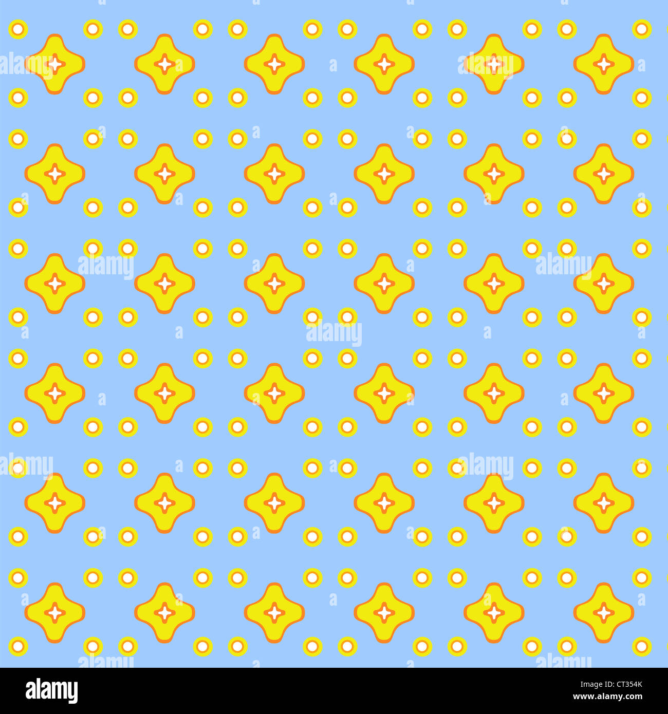 Abstract retro shapes in yellow and blue Stock Photo