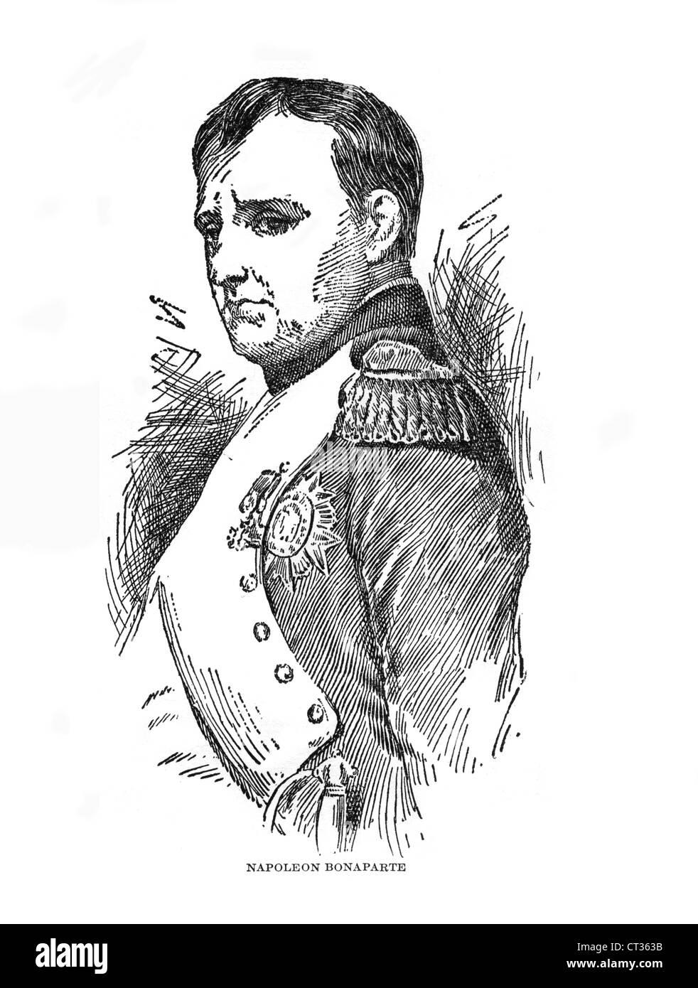 Napoleon Bonaparte,1769-1821,French emperor, commander, soldier. - Stock Image