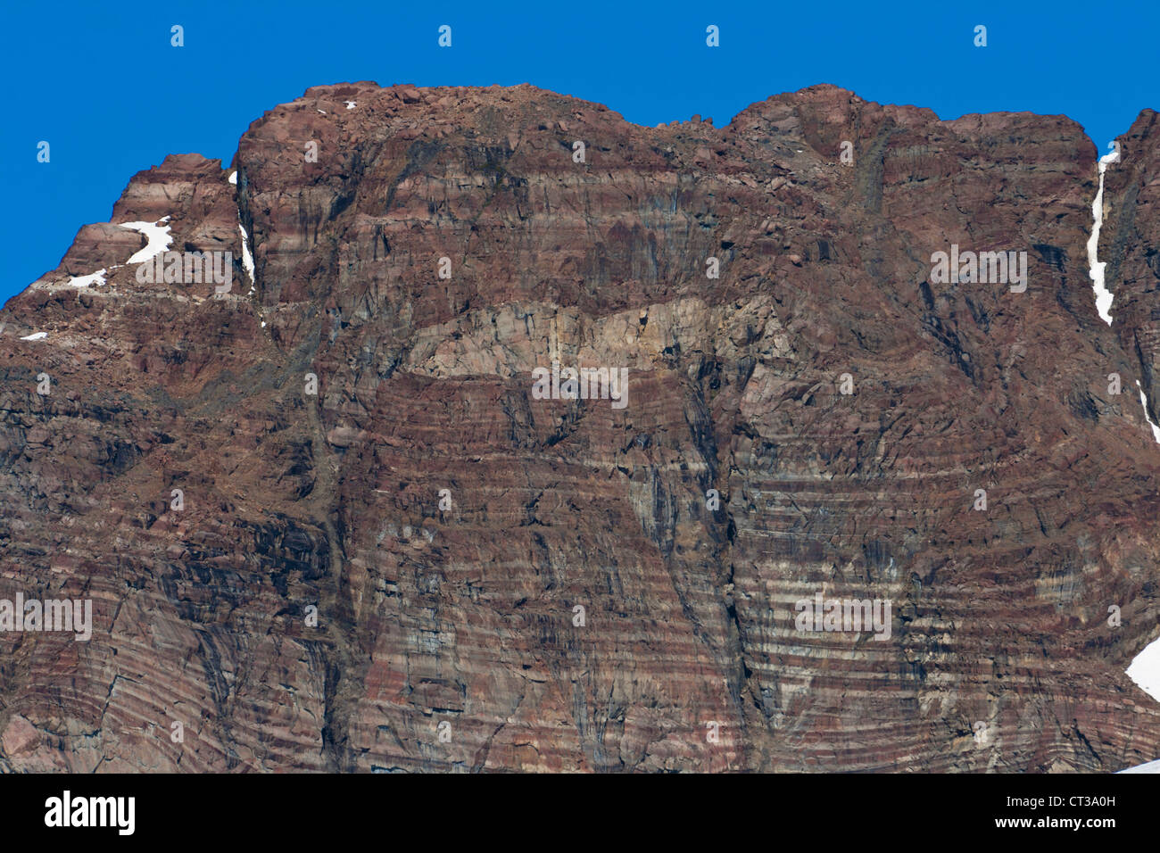 Igneous layering in the Skaergaard intrusion - Stock Image