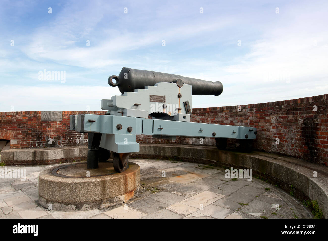 cannon at Southsea Castle Portsmouth - Stock Image