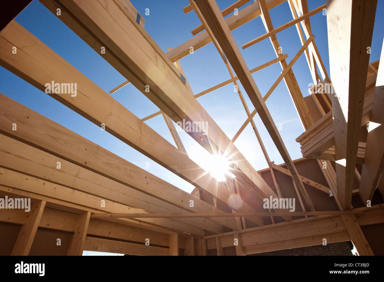 Interior of building under construction - Stock Image
