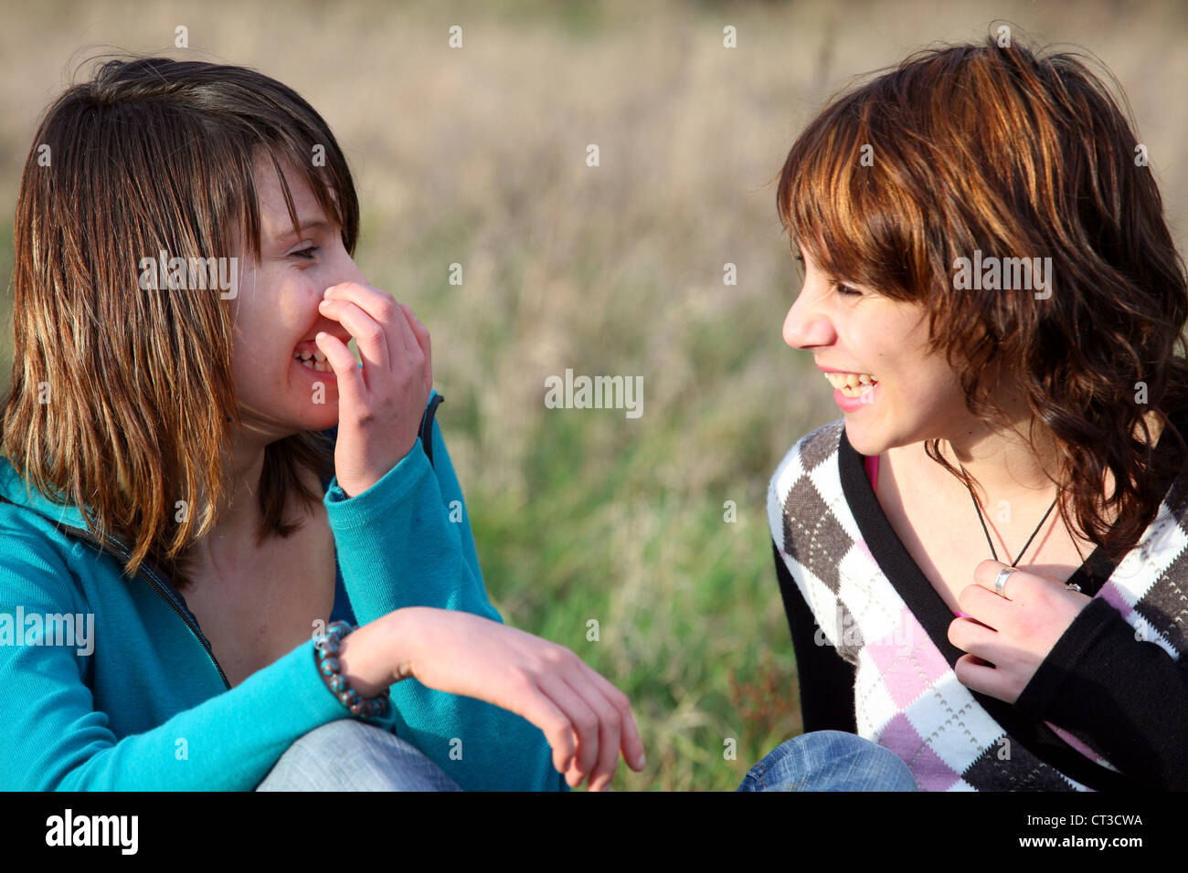 ADOLESCENT OUTDOORS - Stock Image