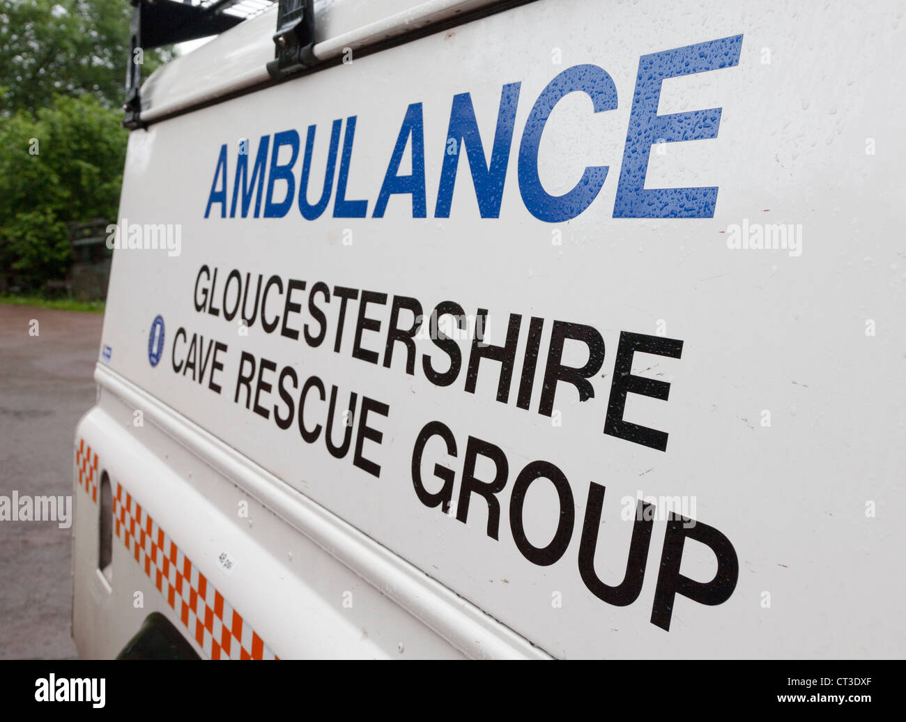 Gloucestershire Cave Rescue Group ambulance, Forest of Dean, UK - Stock Image