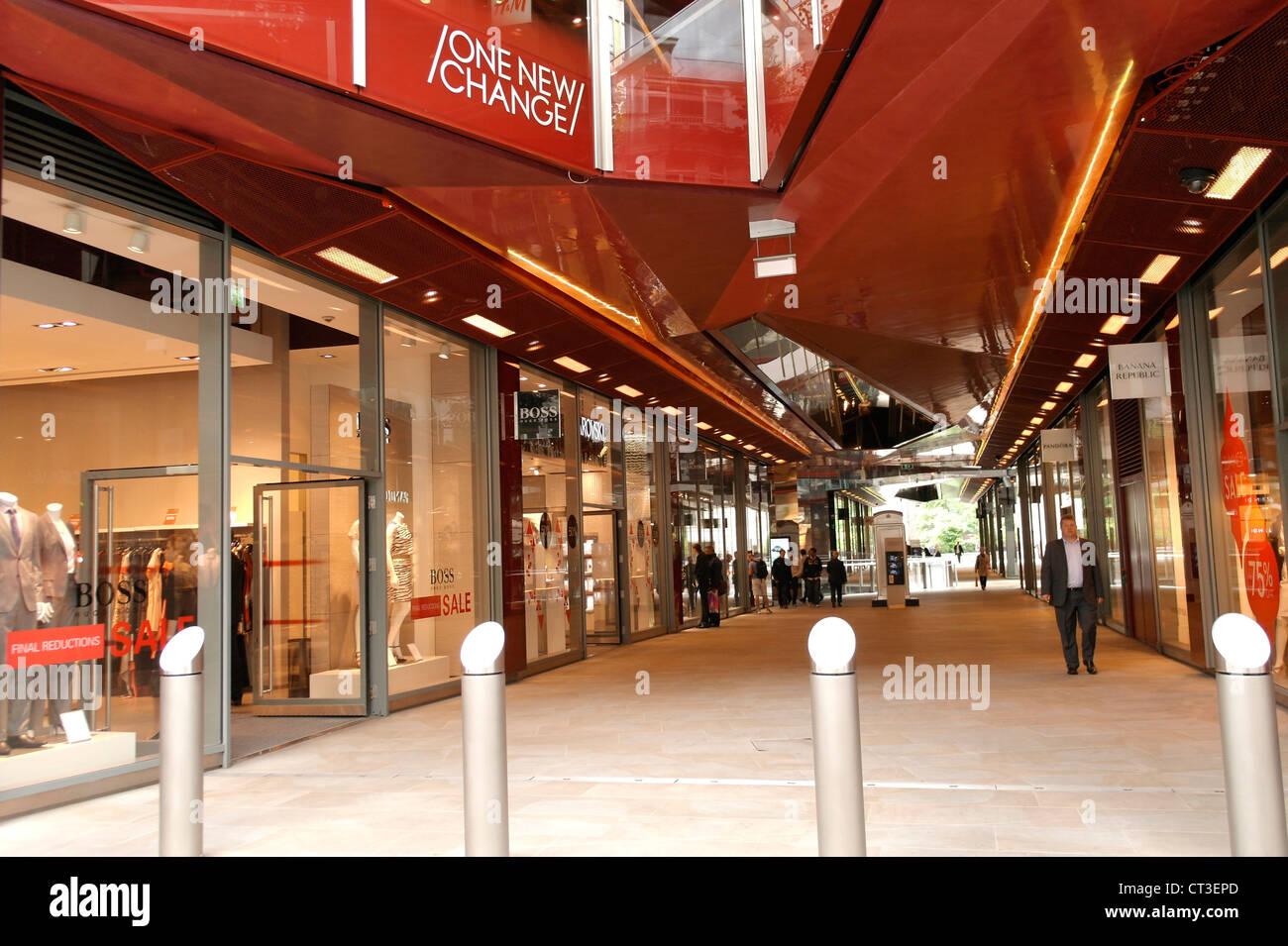 One new change shopping mall at St. Paul in City of London - Stock Image