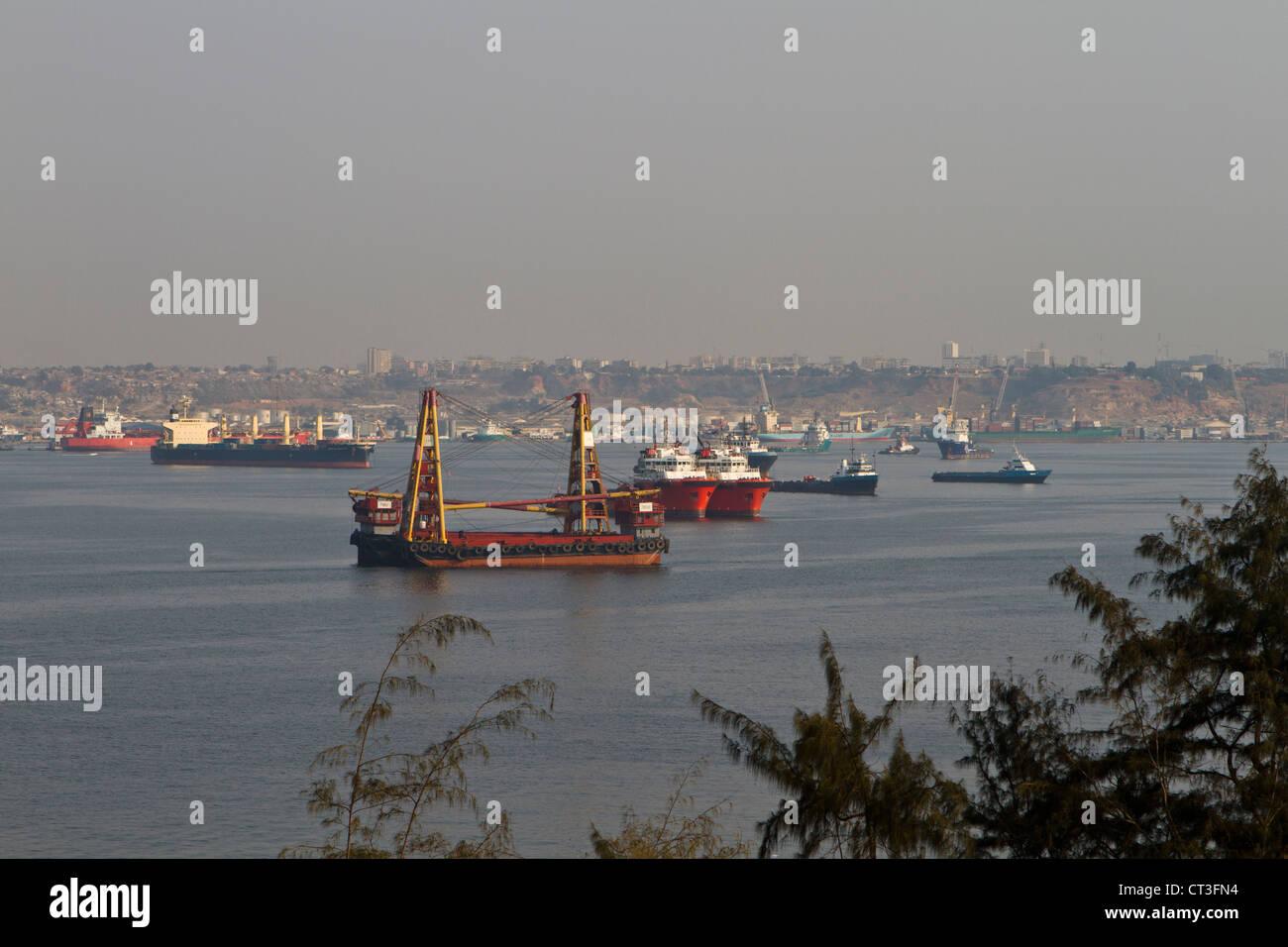 Luanda harbor, Angola Stock Photo