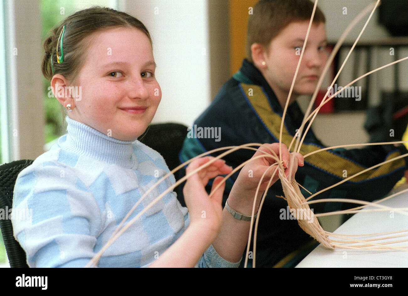 Bernau, rehabilitation of a sick child Chernobyl - Stock Image