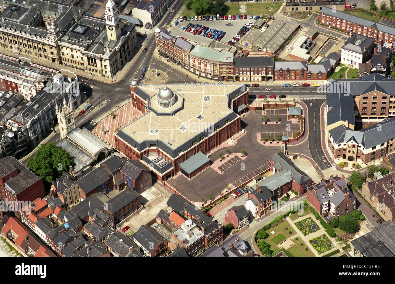 aerial view of Hull Law Courts taken in 1991 - Stock Image