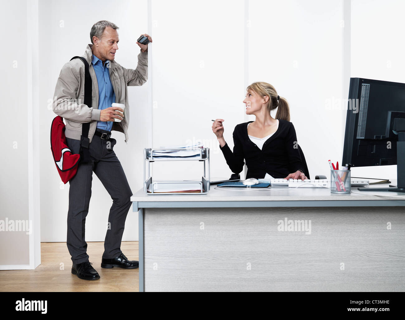 Business people having coffee in office Stock Photo