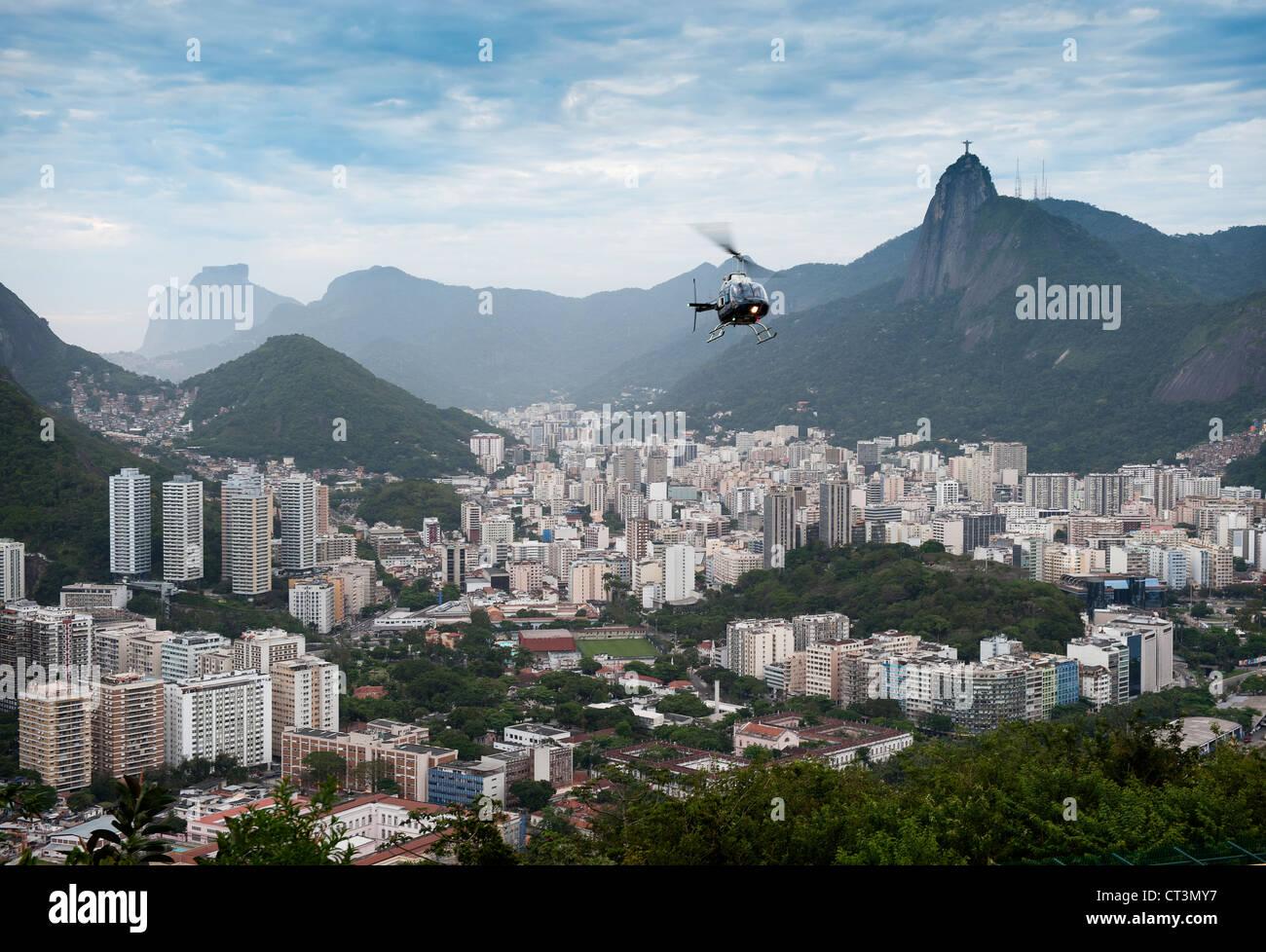 Aerial view of Rio de Janeiro - Stock Image