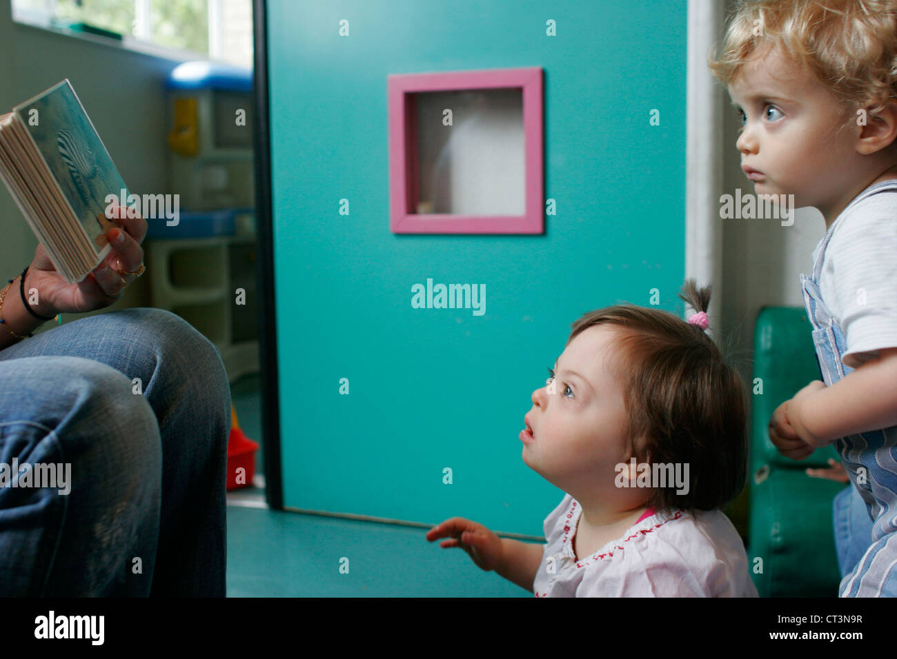 CHILD, DOWN'S SYNDROME NURSERY - Stock Image
