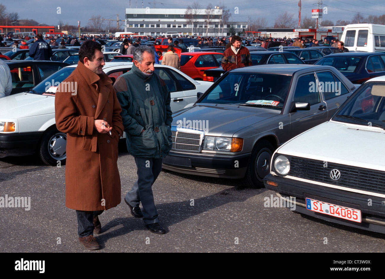 Private Car Market in Essen-Bergeborbeck Stock Photo