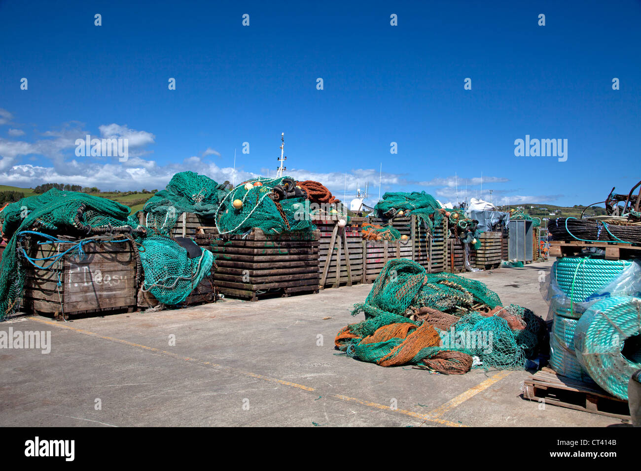 Fishing gear Union Hall, West Cork - Stock Image