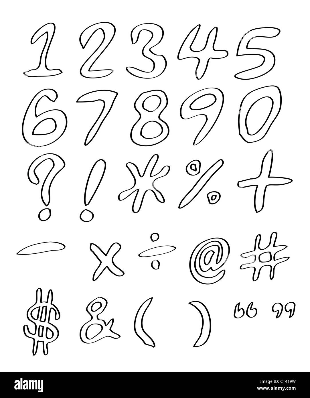 Handwritten Numbers With Symbols