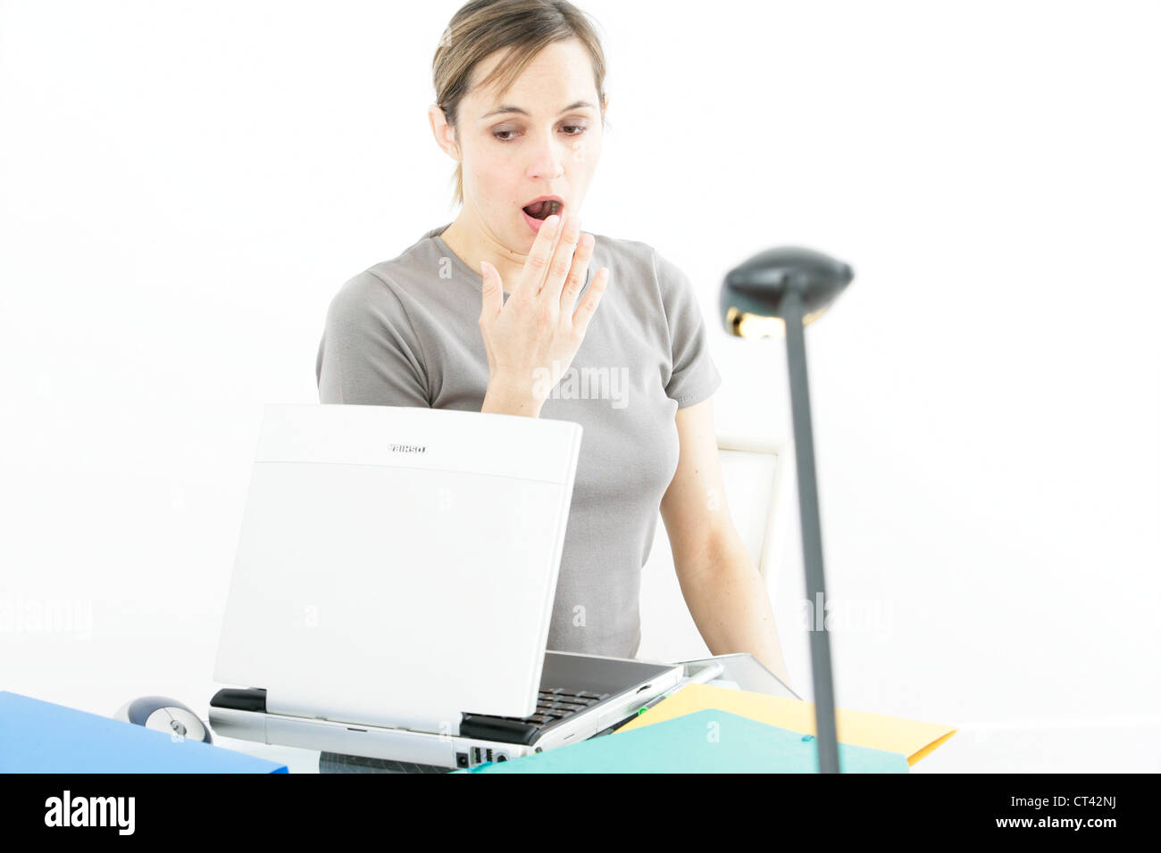 TIRED WOMAN - Stock Image