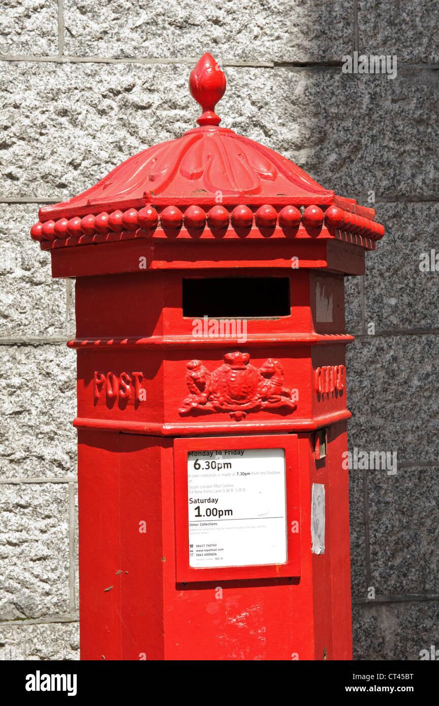 British Mail Box, London, England, UK. Stock Photo