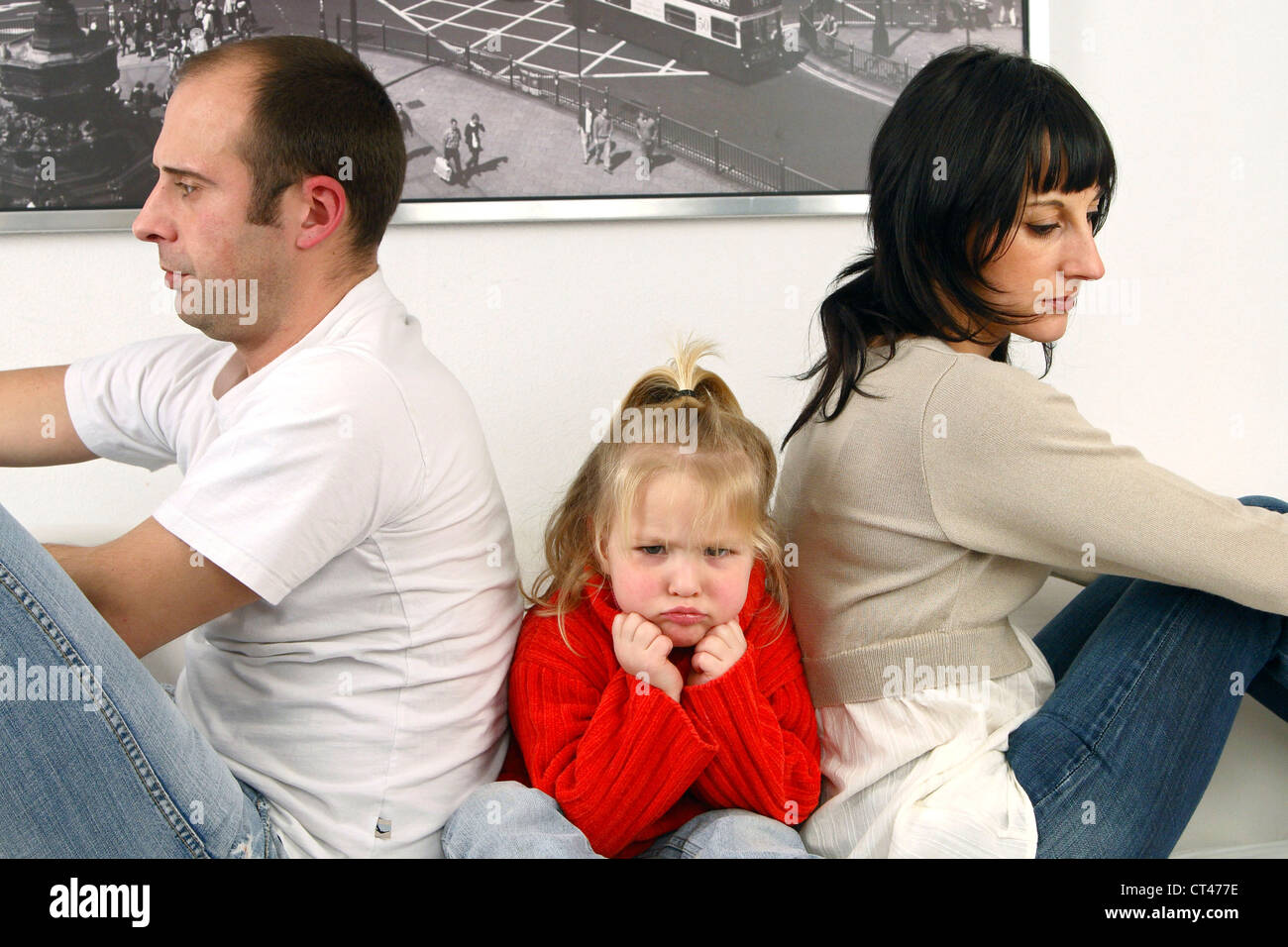 CONFLICT IN A FAMILY - Stock Image