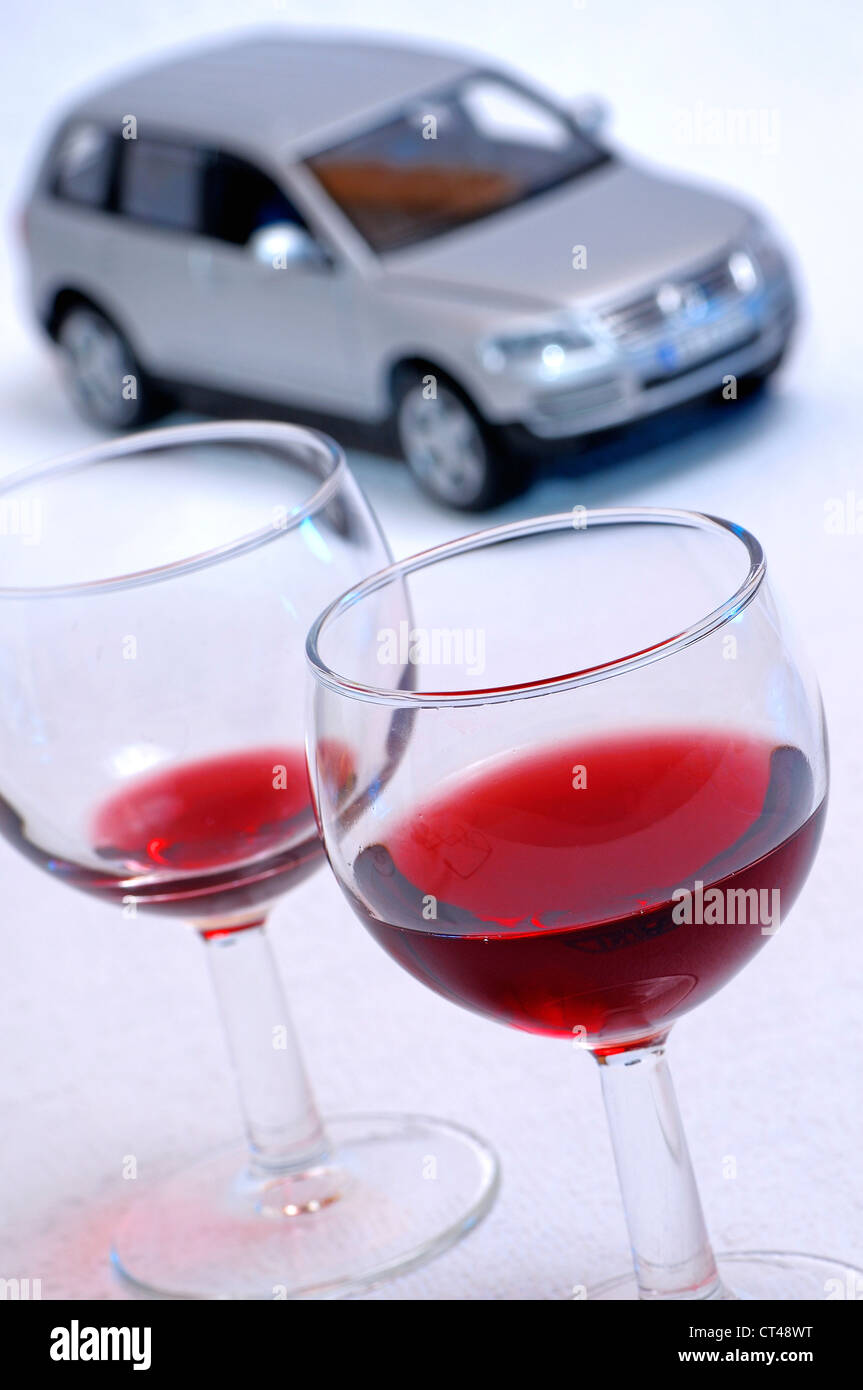 DRINKING AND DRIVING - Stock Image