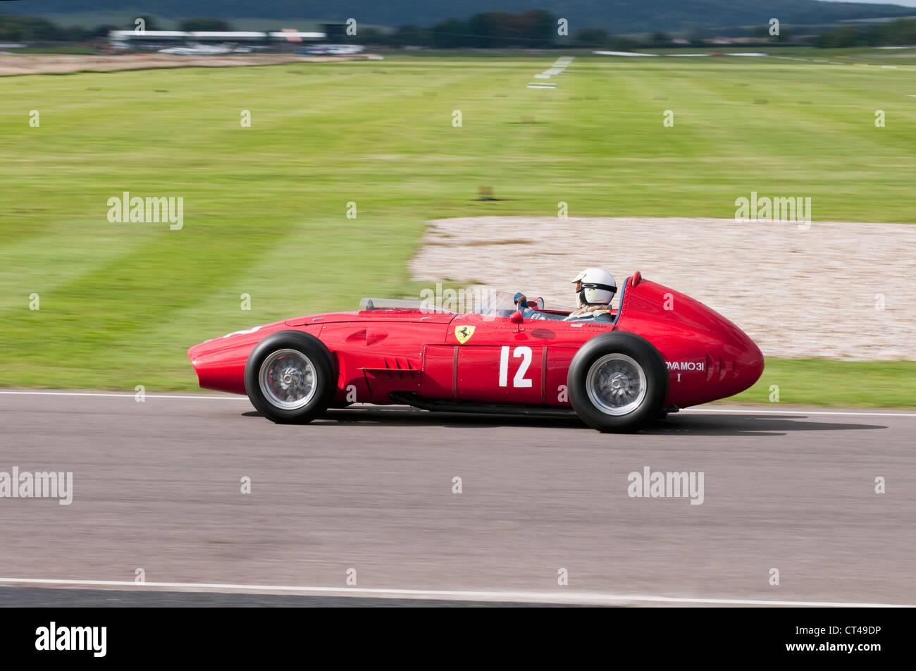 Classic 1950 S Ferrari 246 Dino F1 Car At The Goodwood Revival Stock