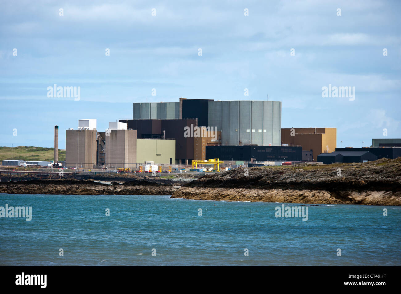 Wylfa Nuclear power station Cemaes Bay Anglesey North Wales Uk. - Stock Image