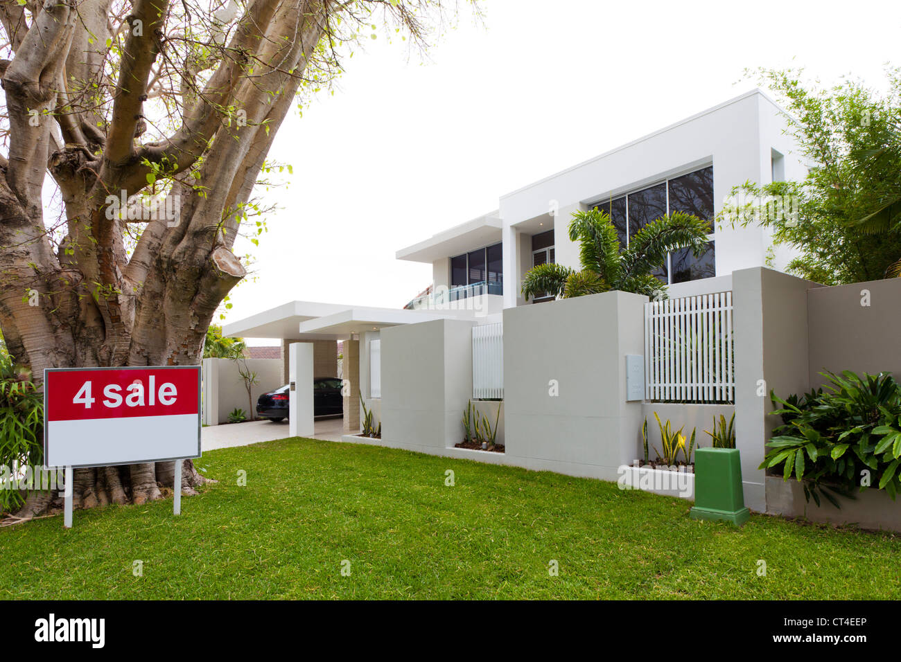 Luxury house for sale Stock Photo