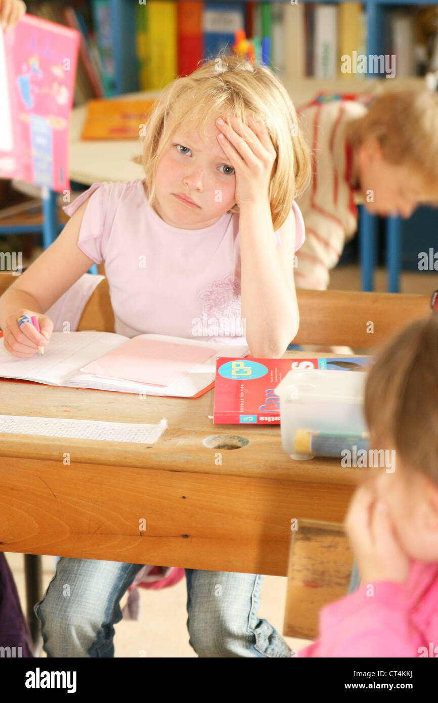 TIRED CHILD - Stock Image