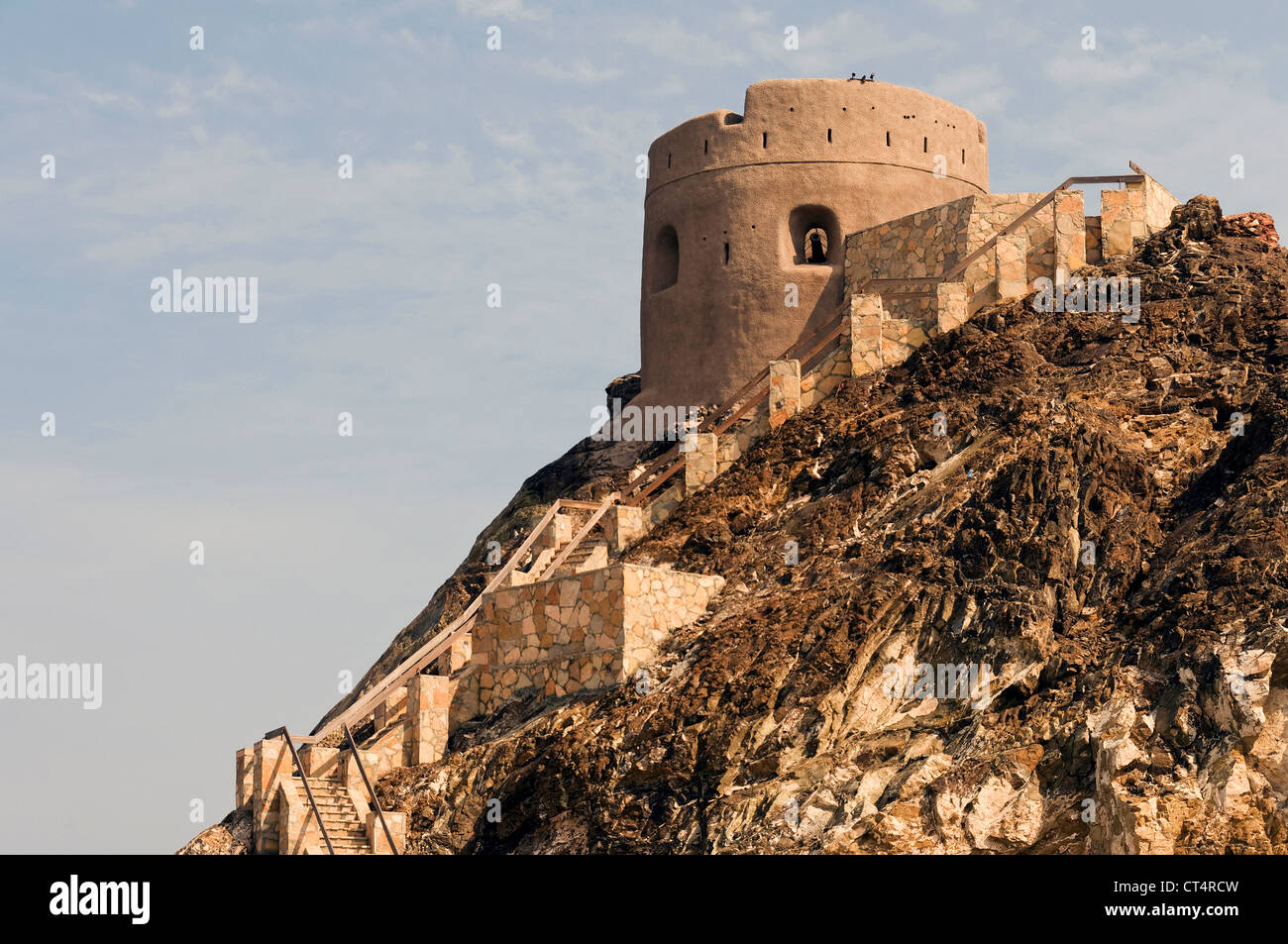 Elk207-1154 Oman, Muscat, Muttrah, Corniche, Portuguese Watchtower - Stock Image