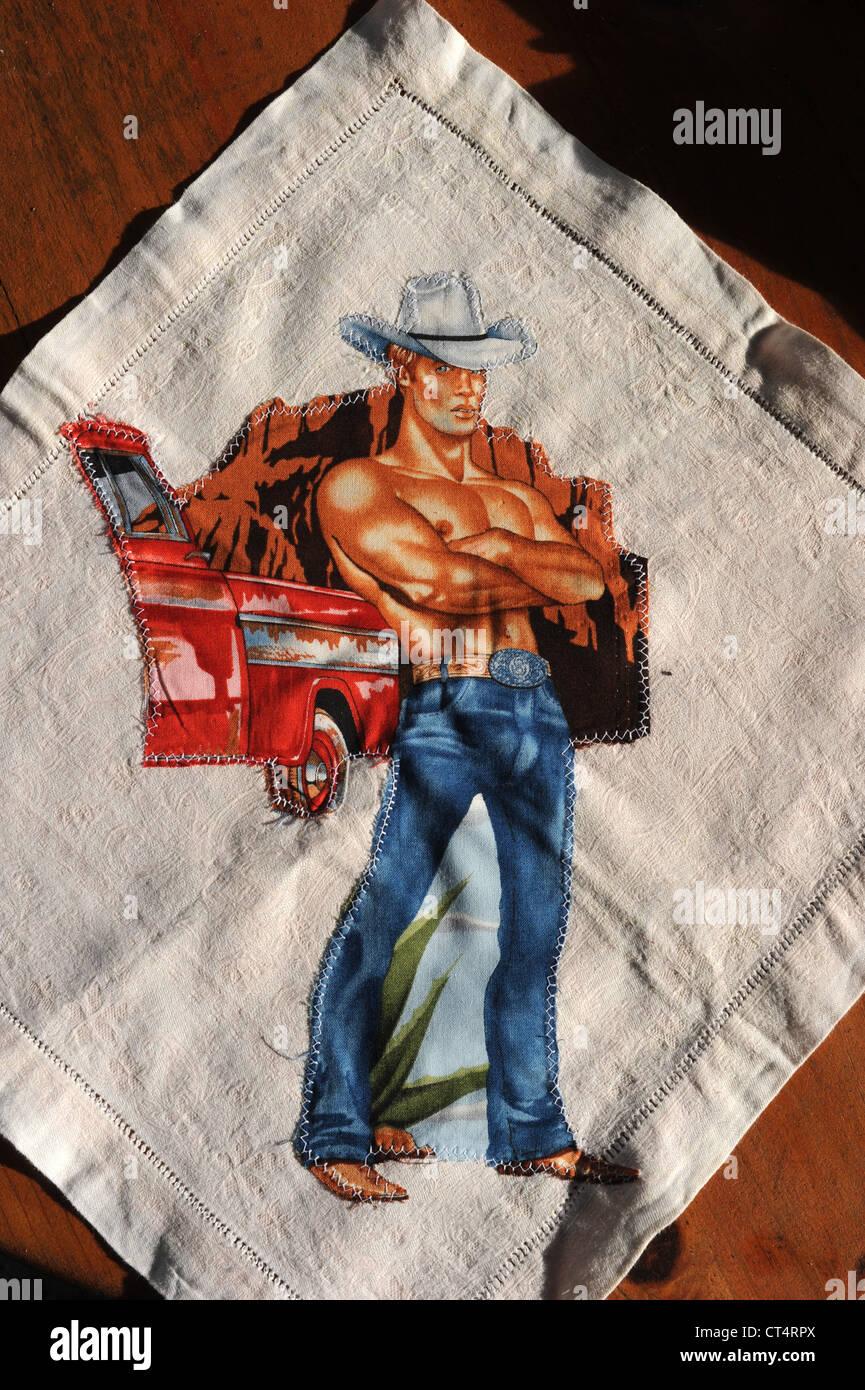 Gay Cowboy memorabilia - Stock Image