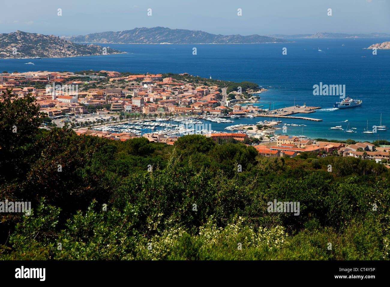 Town View Of Palau Sardegna Italia Sardinia Italy With