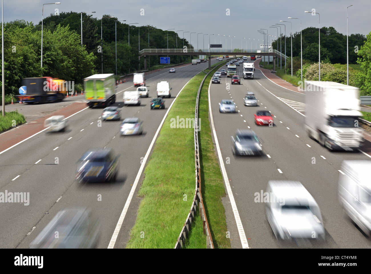 Motorway traffic - Stock Image