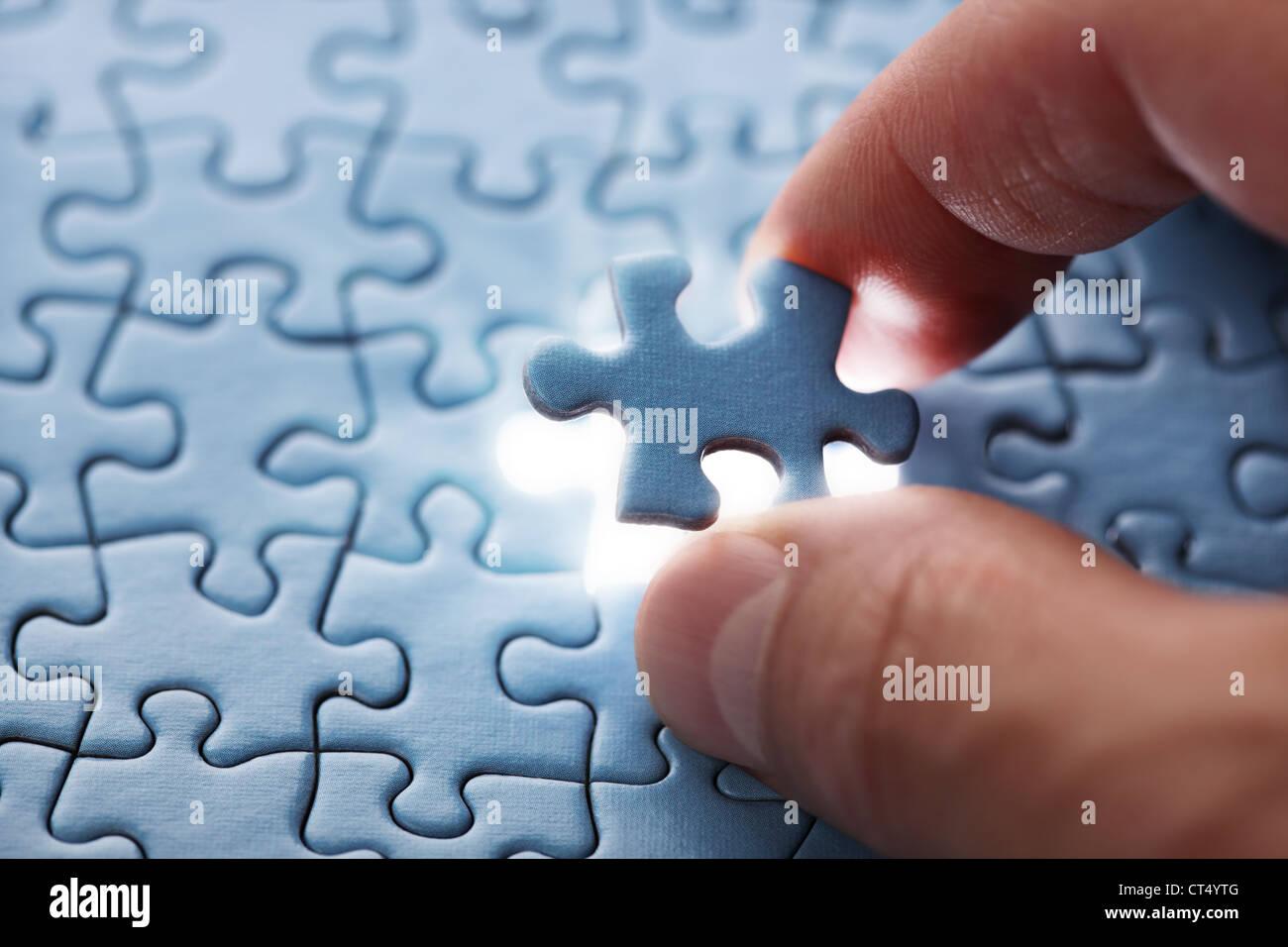 Last puzzle piece - Stock Image