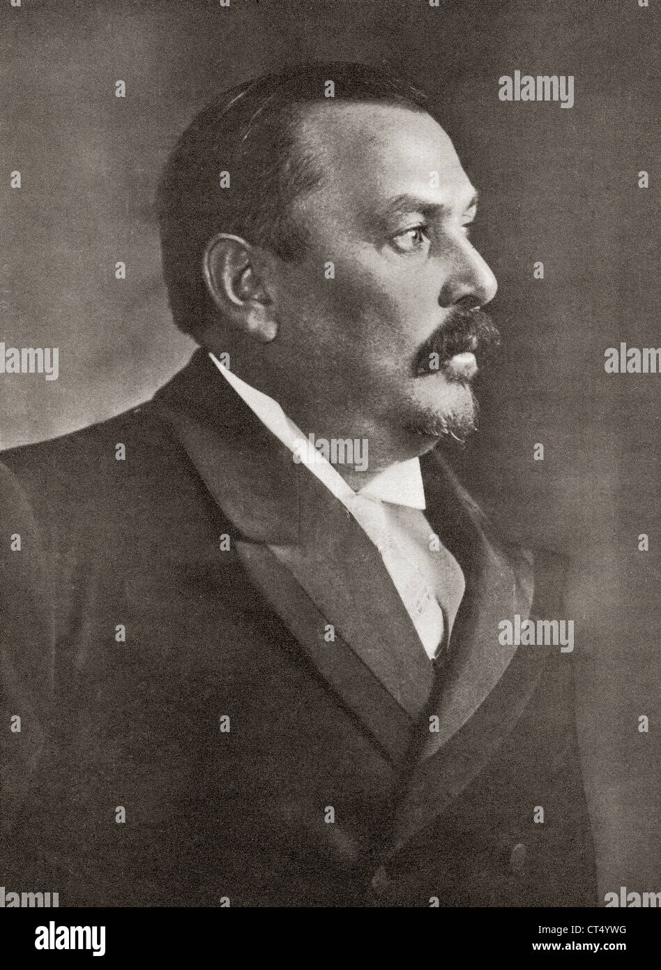 Louis Botha, 1862 – 1919. Afrikaner and first Prime Minister of the Union of South Africa. From The Year 1919 Illustrated. - Stock Image