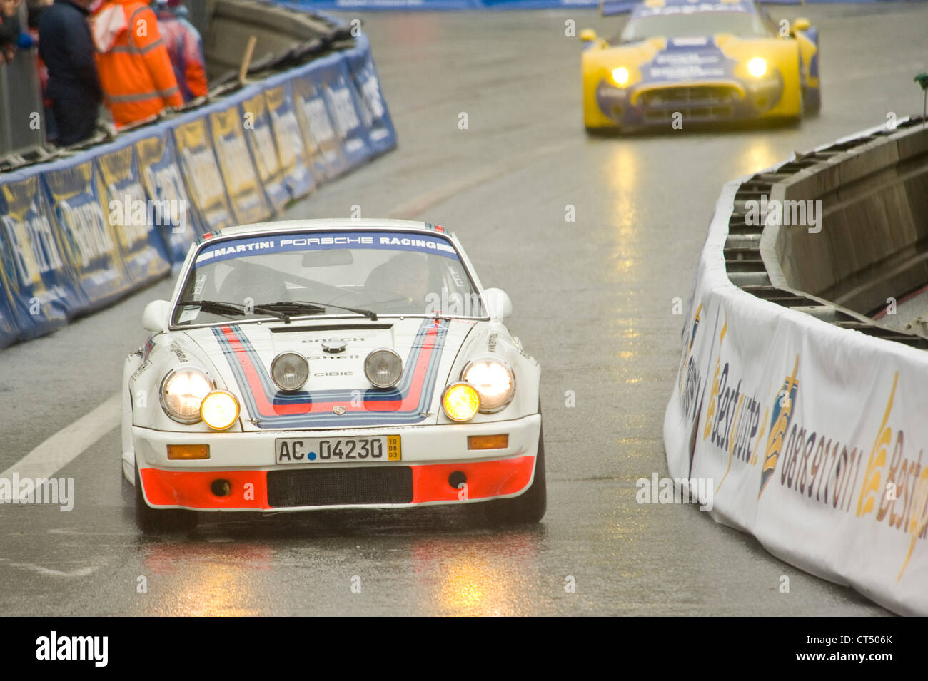 The Porsche 911 RSR (Martini Racing) on the track of the Dublin
