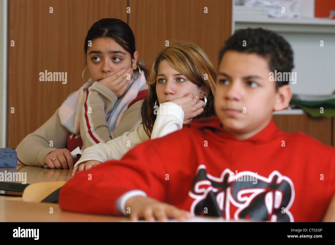 Lesson in a secondary school - Stock Image
