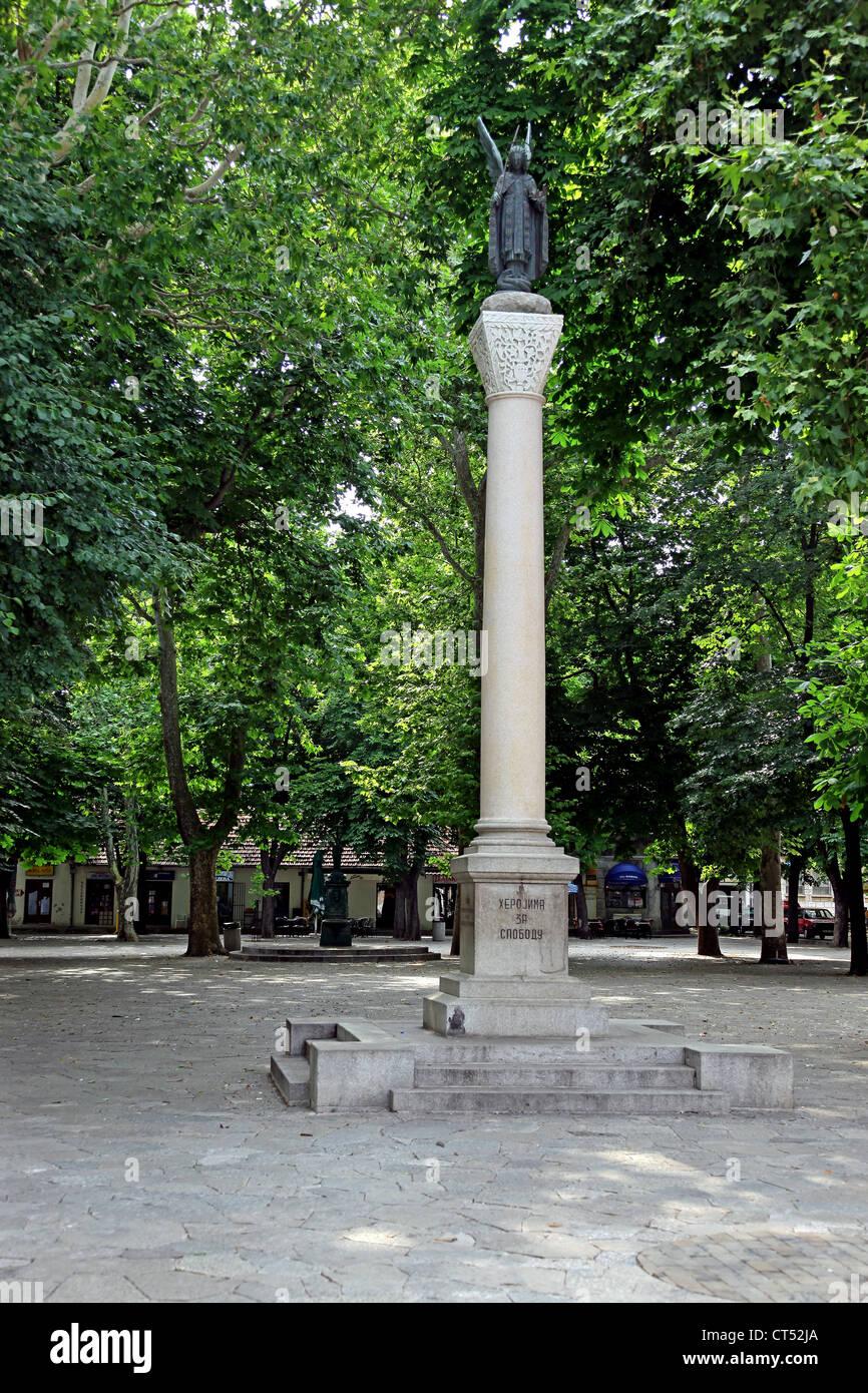 Memoral Park in Trebinje, Bosnia & Herzegovina. Stock Photo