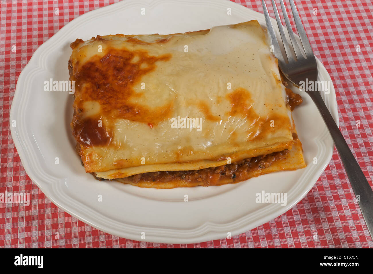 Sainsbury's low calorie beef lasagne - Stock Image