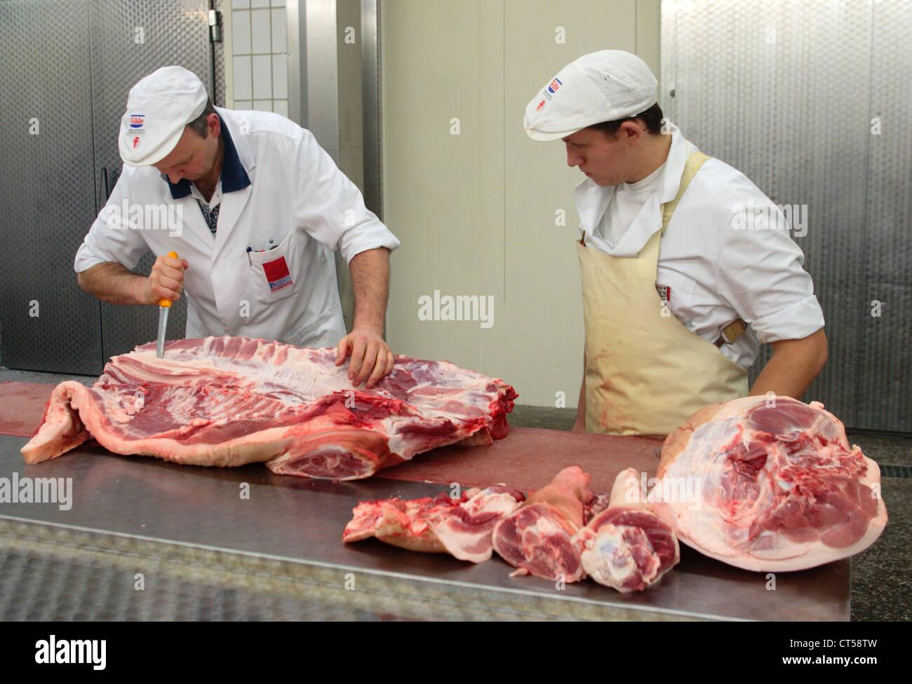 Apprenticeship As Butcher Stock Photos & Apprenticeship As