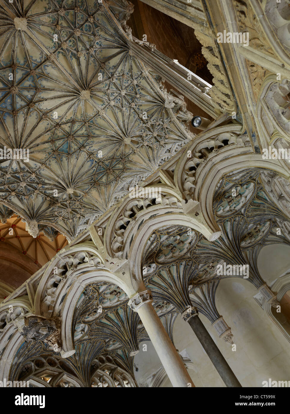 Tewkesbury Abbey, vaulting in Beauchamp chantry chapel - Stock Image