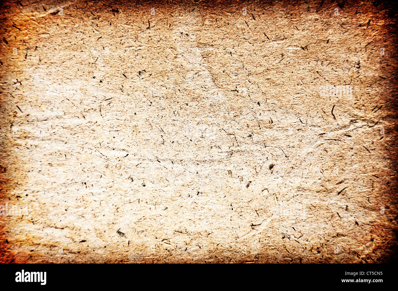 Vintage aged old paper. Original background or texture. - Stock Image