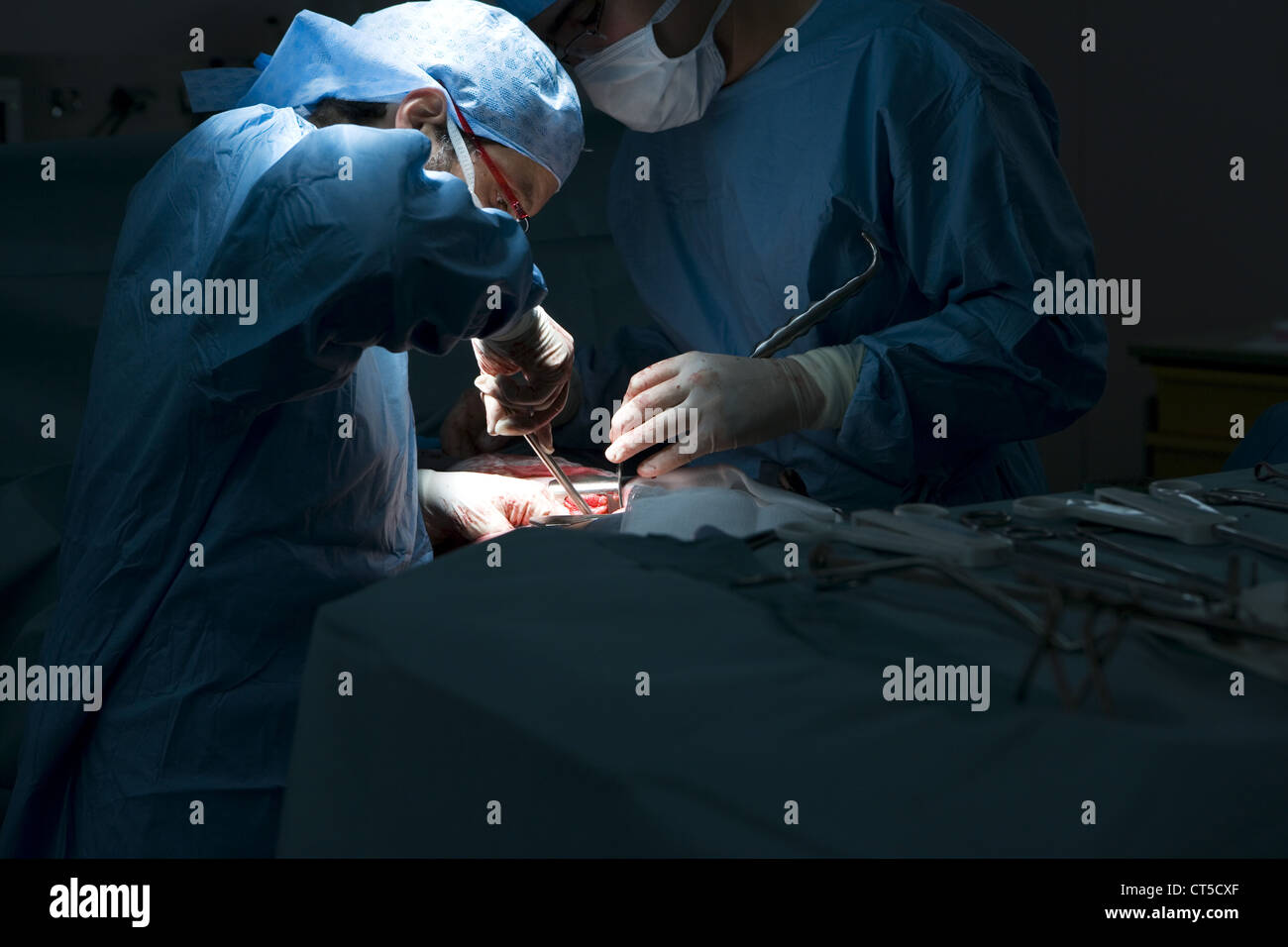 KIDNEY SURGERY - Stock Image