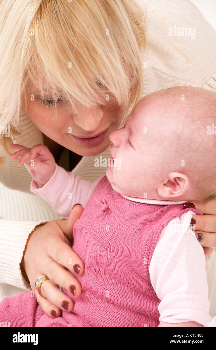 MOTHER & INFANT Stock Photo