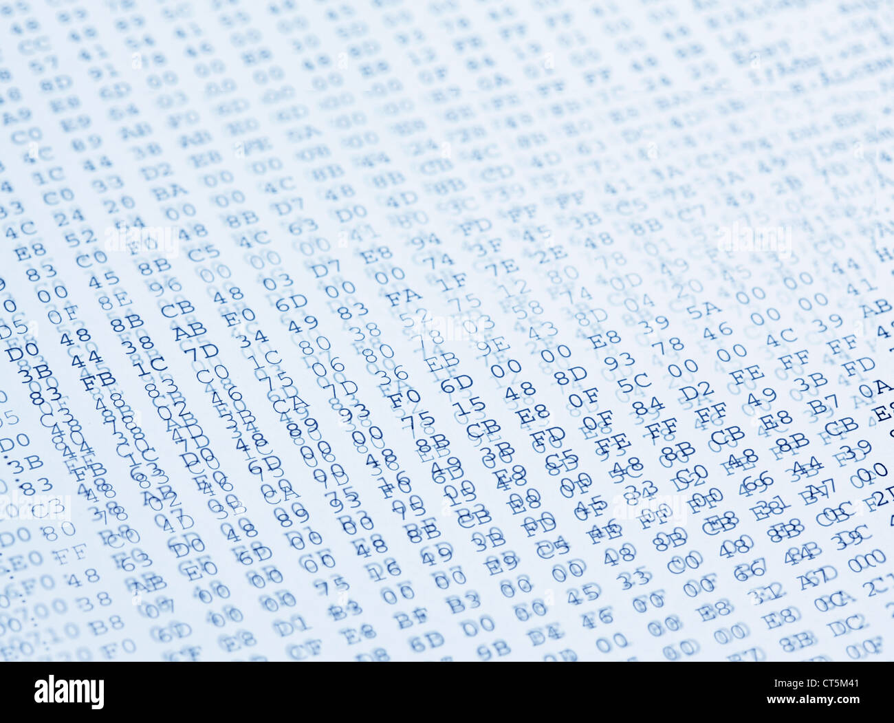 Codes background in blue tone - Stock Image