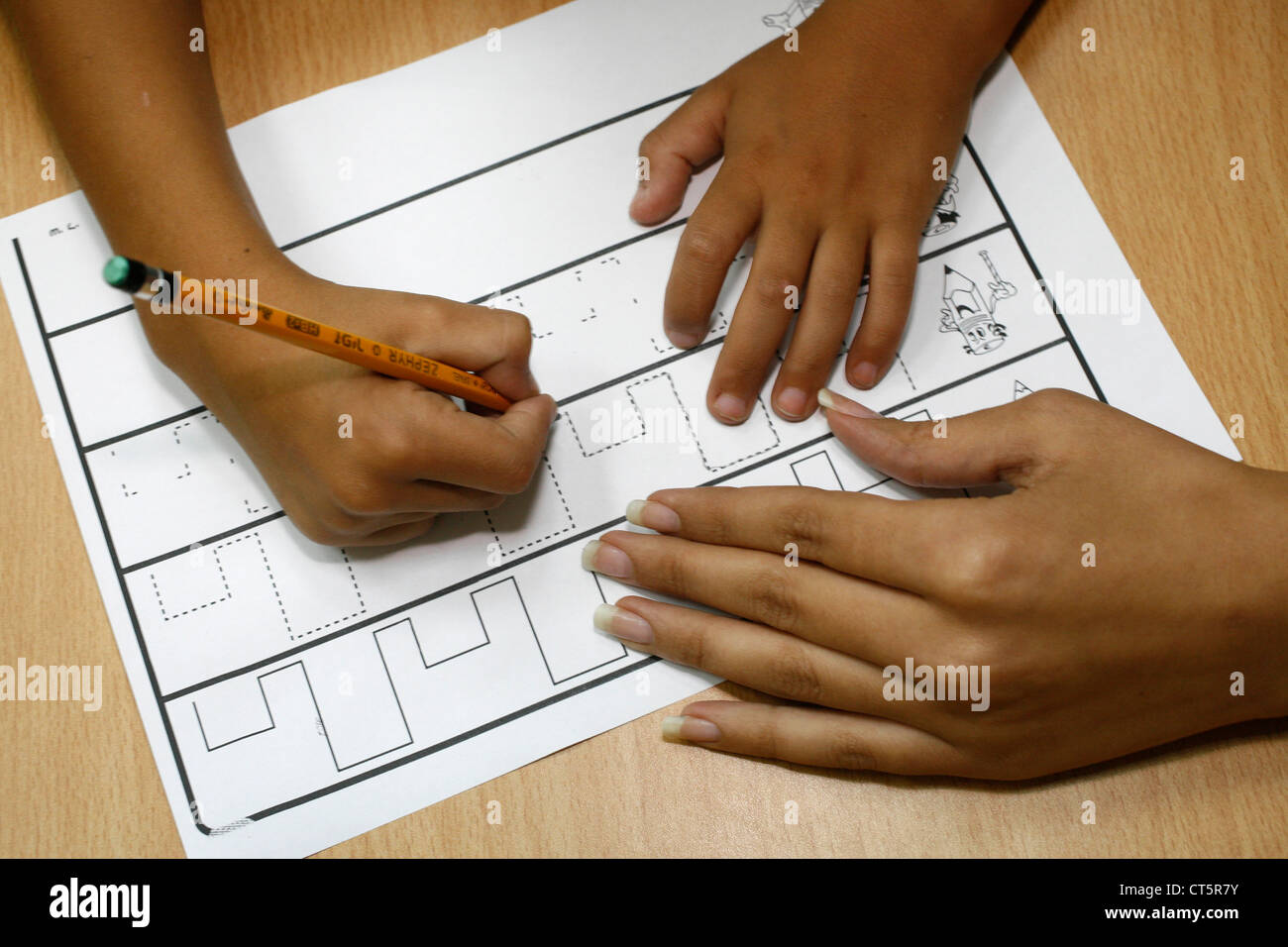 PSYCHOMOTILITY FUNCTION TEST - Stock Image